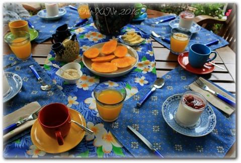 2016-05-26-27 Baguio Le Coq Floral breakfast spread