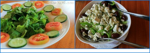 2016-06-07 Baguio Lemon and Olives Greek Taverna salads Greek salad and garden salad