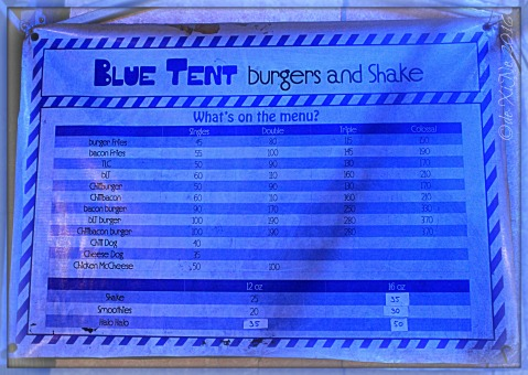 2016-06-12 Baguio Blue Tent Burgers and Shakes menu