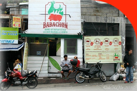 2016-07-06 Baguio Babachon Davao Style Lechon street view of facade