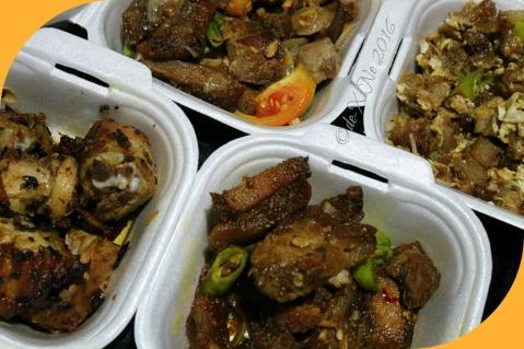 2016-07-06 Baguio Babachon Davao Style Lechon offerings lechon manok chili garlic liempo crispy sinigang liempo-sig