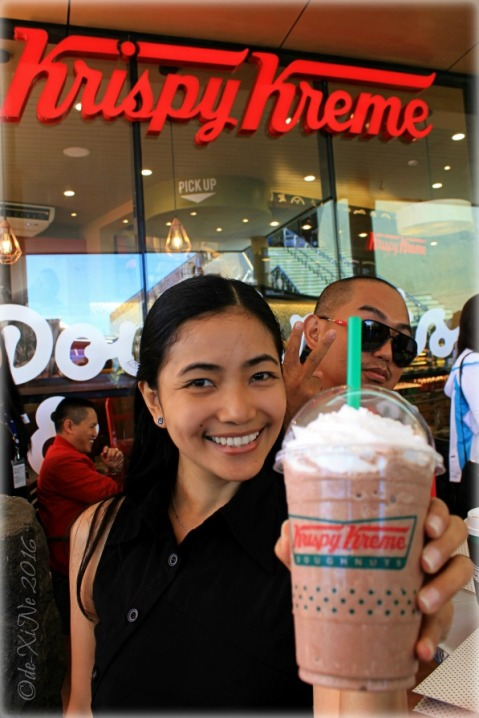2016-07-22 Baguio second Krispy Kreme branch me with chocolate chocolate chiller (5)