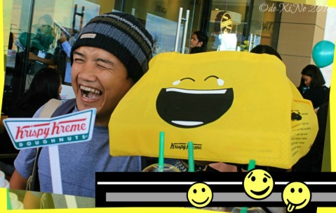 2016-07-22 Baguio second Krispy Kreme branch Sir Ash going emoji happy face with tears of joy