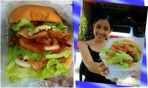 2016-07-26 Baguio Blue Tent Burgers and Shakes Xine and a triple sized BLT