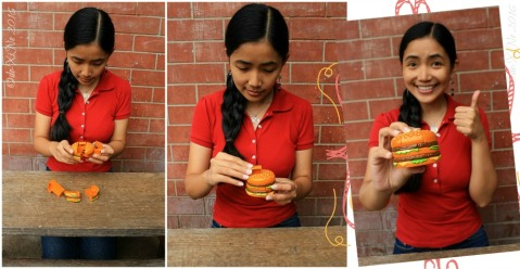 2016-08-24 putting together the Baguio McDonalds Happy Meal burger puzzle
