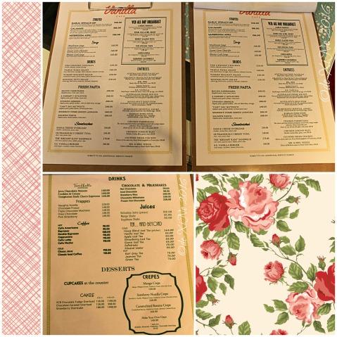 2016-09-05 Baguio Vanilla Cupcake Bakery at Kamiseta Hotel menu