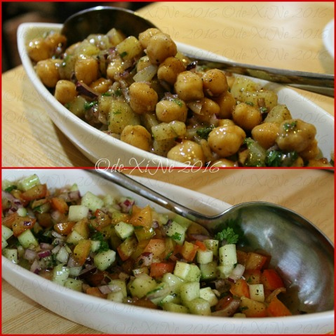 Baguio Chef Indian and Pakistani Restaurant salads - aloo channa chat and salad sherazi