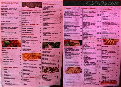 Baguio Future Diner menu