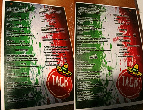Baguio Tack Mexican Grill Station menu