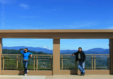 at the rooftop of Baguio Outlook Ridge Residences