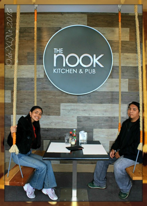 Baguio The Nook Kitchen & Pub at LeFern Hotel II at the swing seat table of The Nook restaurant