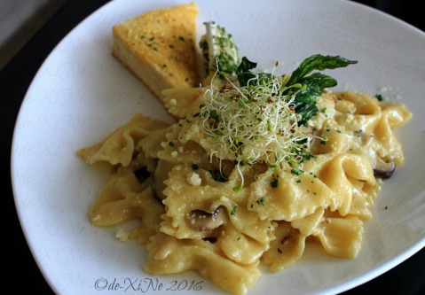 Baguio The Nook Kitchen & Pub at LeFern Hotel II mushroom farfalle with alfalfa pasta