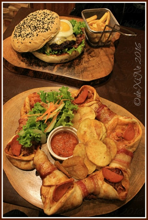 Baguio Ze Creamery beast mode burger for two and pizza pullover