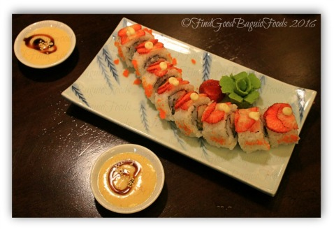 La Trinidad metro Baguio Yasuragi Japanese Cuisine yasuragi roll