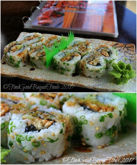 La Trinidad metro Baguio Yasuragi Japanese Cuisine unagi roll
