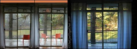 Baguio Ozark Bed and Breakfast doors to the balcony