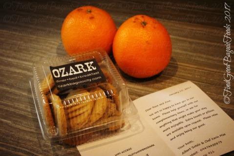 Baguio Ozark Bed and Breakfast welcome treats