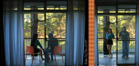 greeting the new day at Baguio Ozark Bed and Breakfast