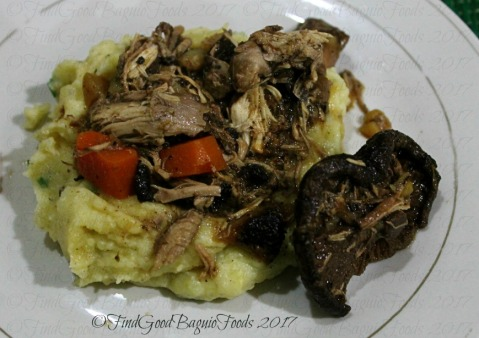 Baguio Chef Didier's Table Coq au vin, creamy mashed potatoes