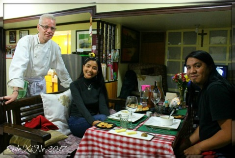 sitting at Baguio Chef Didier's Table