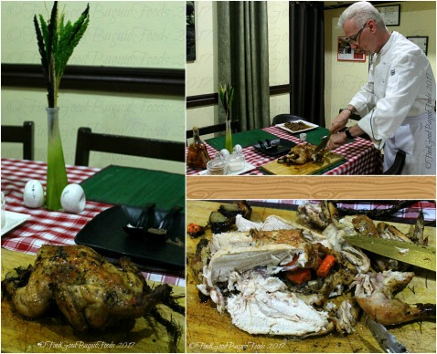Baguio Chef Didier's Table 2017 Chef Didier slicing the herb roasted free range chicken