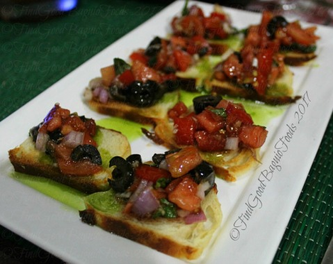 Baguio Chef Didier's Table crostini starters