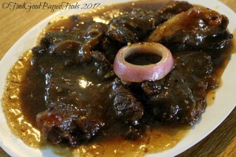 Baguio Mang Ed Bakareta Cafe and Restaurant bistek Tagalog