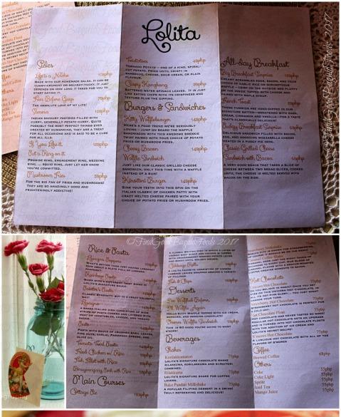 Baguio Lolita Bistro Cafe menu