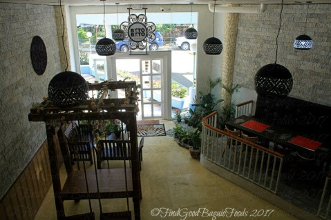 View of Baguio Batobato Plate dining area from the mezzanine