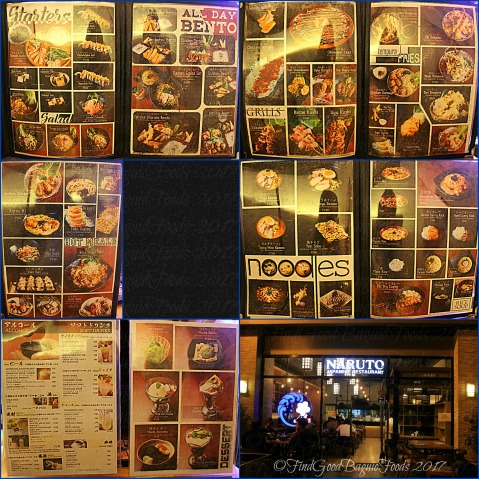 Baguio Naruto Japanese Restaurant menu