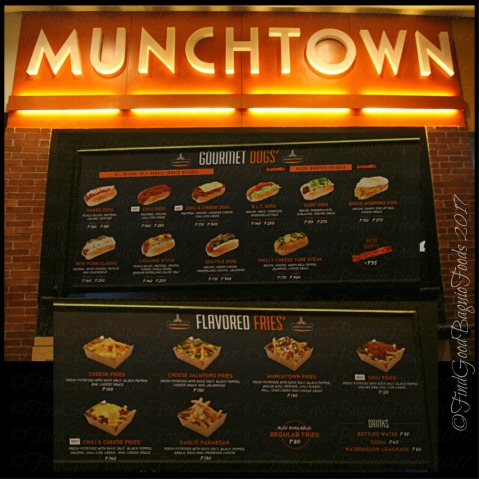 Baguio Munchtown menu