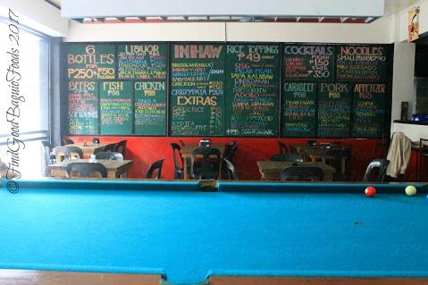 Baguio Riprap Restobar menu