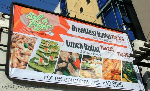 Baguio Salt and Pepper Casual Dining at Citylight Hotel buffet prices