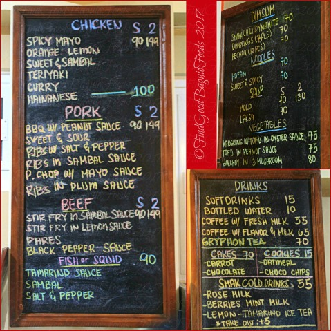 Baguio SMAK Asian Crossover menu