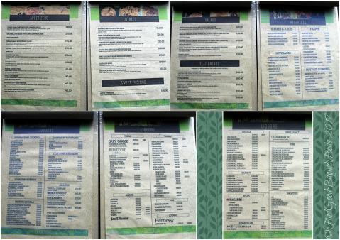 Baguio Hardin Resto Cafe menu 2017