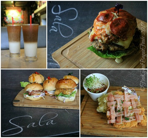 Baguio Sala 2017 Iced coffee deluxe, pizza burger, 5 sliders, chicken cutlet