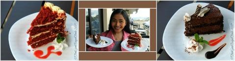 Quoted Cafe red velvet cake and mocha mousse at V Hotel Apartel 2017