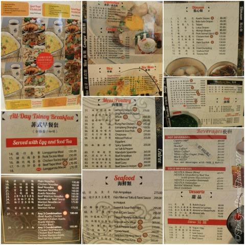 Baguio Ling Nam menu 2017