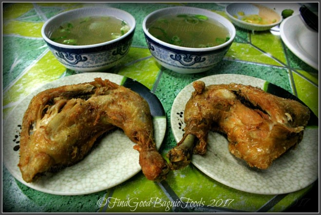 Baguio Kanto Fried Chicken/Mang Inasar fried chicken and soup at Military Cut Off Talipapa 2017