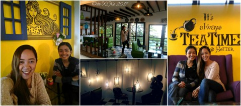 Ela and Xine at the pretty Baguio Coffee & Pine Cafe 2017