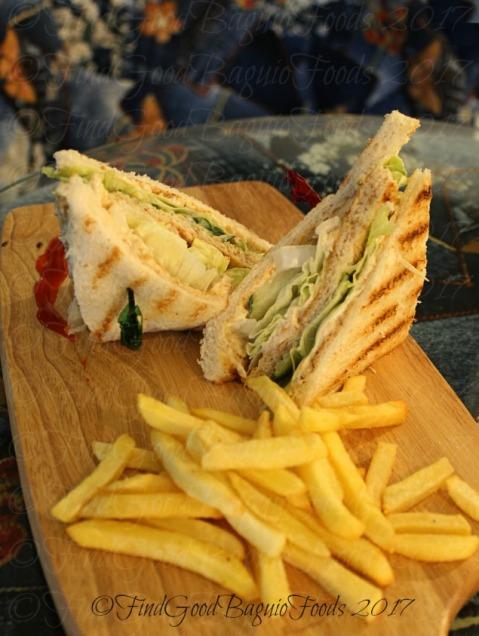 Baguio Coffee & Pine Cafe chicken sandwich 2017