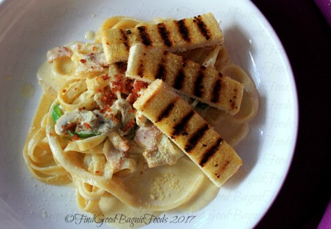 Baguio Coffee & Pine Cafe pasta carbonara 2017