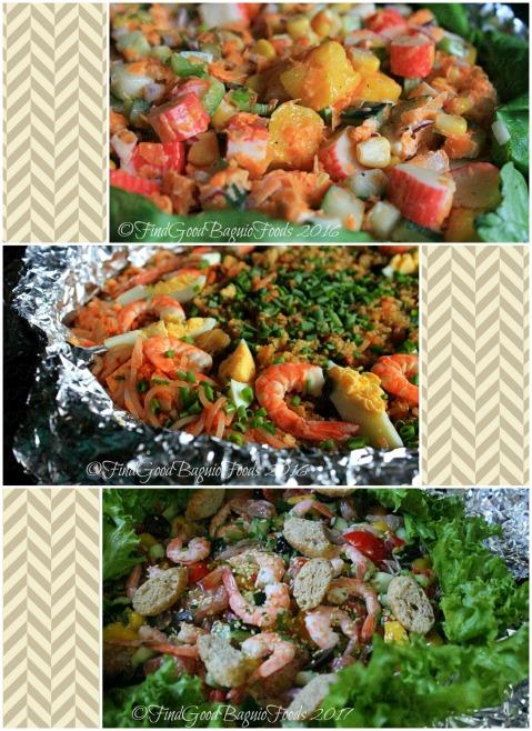 Baguio Julie's Homemade Palabok, Atbp. crab stick salad, palabok, mango pomelo shrimp salad