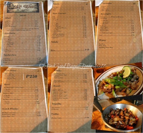 Baguio Rock'n Woods Cafe and Restaurant menu mixed pulutan and dinakdakan 2017