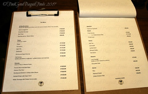Baguio CUCI by Cucinino menu