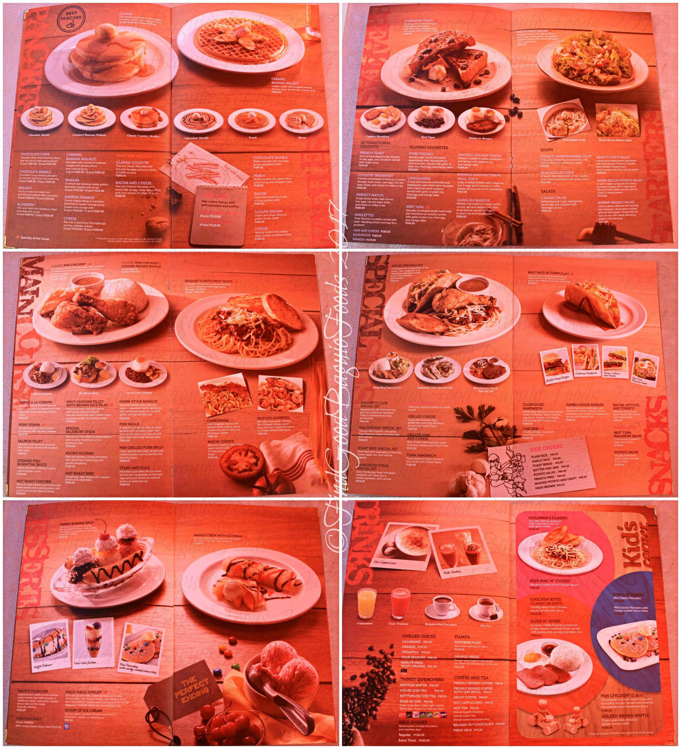 Sunny Spot Cafe Menu
