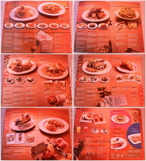 Baguio Pancake House menu 2017
