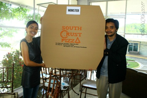 South Crust Pizza monster sized pizza at Baguio Beans Cafe