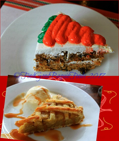 Baguio Vincent's Place Restaurant Cafe Bar carrot cake and sweet potato pie 2017