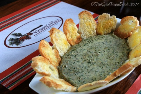 Baguio Vincent's Place Restaurant Cafe Bar banana blossom cheese dip 2017